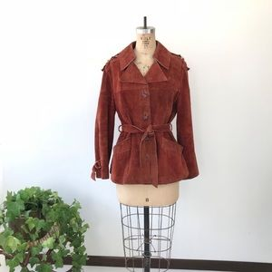 Vintage 70's Suede Buckle Jacket